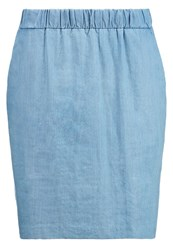 Opus Raggy Denim Skirt Denim Sky Blue Denim