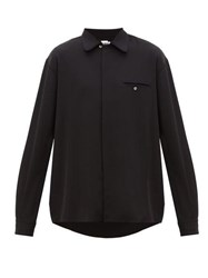 Hope Late Piped Crepe Shirt Black
