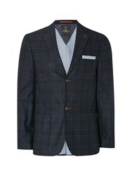 White Stuff Men's Etna Check Blazer Navy