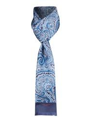 Ted Baker Paisley Print Silk Scarf Blue