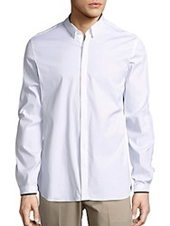 The Kooples Cotton Blend Solid Shirt White
