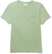 Oliver Spencer Envelope Melange Cotton Jersey T Shirt Leaf Green