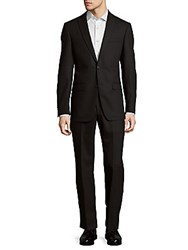 Michael Kors Pinstripe Notch Lapel Suit Black