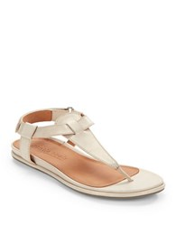 Gentle Souls Oxford Leather Thong Sandals Off White