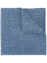 Eleventy Classic Pocket Square Blue