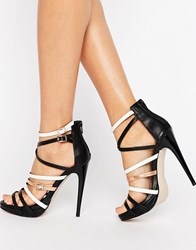 Little Mistress Strappy Heel Sandal Black And Multi
