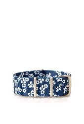 Forever 21 Floral Print Watch Band Strap Navy White
