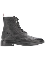 Thom Browne Classic Wingtip Rubber Sole Boot Black