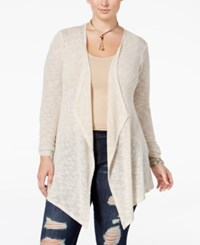 American Rag Trendy Plus Size Lace Back Cardigan Only At Macy's Oatmeal