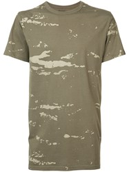 Mhi Maharishi Camouflage T Shirt Men Cotton L Green