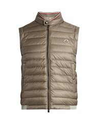 Moncler Maglia Cotton Jersey And Shell Down Gilet Grey