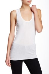 Inhabit Scoop Neck Tank White