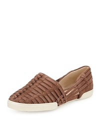 Elliott Lucca Rani Woven Suede Slip On Brown