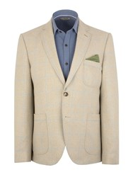 Gibson N Awindowpane Check Button Blazer Taupe