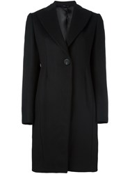 Tonello Single Breasted Coat Black