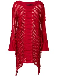 Di Liborio Laser Net Asymmetric Dress Red