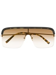Cutler And Gross Aviator Shaped Sunglasses Brown