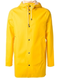 Stutterheim 'Stockholm' Raincoat Yellow And Orange