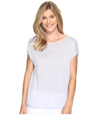 Nic Zoe Every Day Tissue Tee Sky Women's T Shirt Blue
