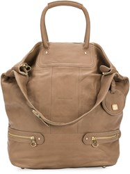 See By Chloe Multi Handle Tote Bag Nude And Neutrals