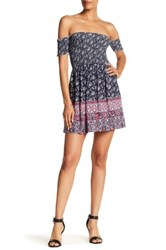 Trixxi Ruched Off The Shoulder Dress Multi