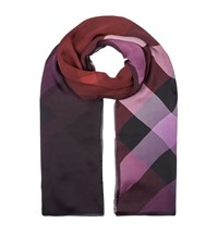 Burberry Ombre Wash Silk Scarf Female Pink