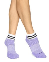 Hue Air Cushion Quarter Top Ankle Socks Three Pack Ultraviolet