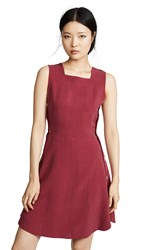 Maison Kitsune Asia Dress Red