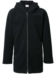 Monkey Time Zip Up Oversized Jacket Black