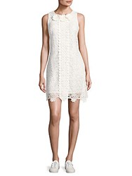 Taylor Crochet Lace Floral Dress White
