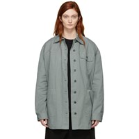 Acne Studios Green Cotton Chino Ozetha Jacket
