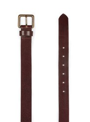 Topman Red Burgundy Leather Belt