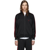 South2 West8 Black Smooth Trainer Zip Up Sweater