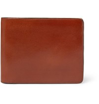 Il Bussetto Polished Leather Billfold Wallet Brown