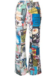 Ground Zero Printed Bootcut Jeans Multicolour
