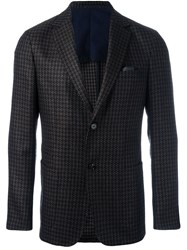 Z Zegna Woven Single Breasted Blazer Black