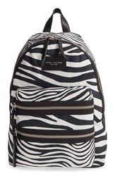 Marc Jacobs 'Biker' Zebra Print Canvas Backpack