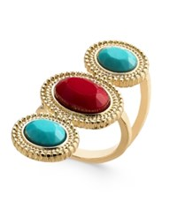 Thalia Sodi Gold Tone Red And Blue Stone Ring Only At Macy's Multi