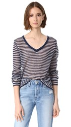Veda Heir Sweater Navy Stripe