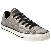 Converse Chuck Taylor All Star Ox Oil Slick Trainers Black Silver Leather