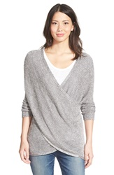 Rd Style Wrap Front Sweater Frost Grey Twist