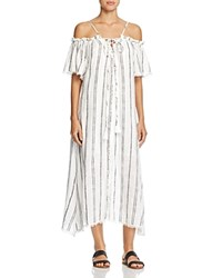 Red Carter Isla Stripe Maxi Dress Swim Cover Up White Black