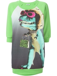 Moschino Cheap And Chic Dinosaur Print Sweatshirt Green