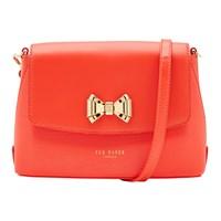 Ted Baker Tessi Bow Leather Across Body Bag Bright Orange
