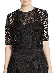 Milly Lace Crochet Shrug Black