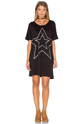 Sundry Star Tunic Dress Black