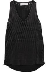 Iro Jazz Perforated Leather Tank Black