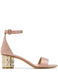 Salvatore Ferragamo Azalea Sandals Neutrals