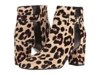 Kate Spade Ovella Blush Brown Leopard Haircalf Black Nappa