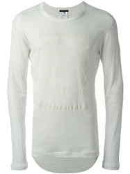 Ann Demeulemeester Flower Print Sweater White